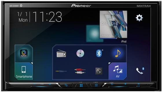 Автомагнитола CD DVD Pioneer AVH-Z5100BT 2DIN 4x50Вт ПО:Waze автомагнитола cd pioneer deh x8700bt 1din