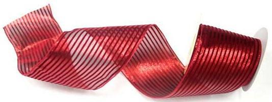 Лента упаковочная ПОЛОСКА из капрона 10см на 9 м,1 шт,красная