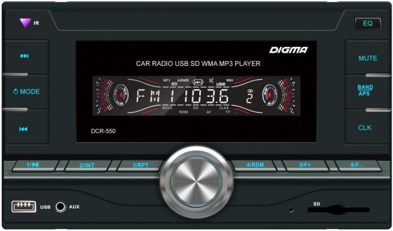Автомагнитола Digma DCR-550 2DIN 4x50Вт телевизор digma dm led32r201bt2