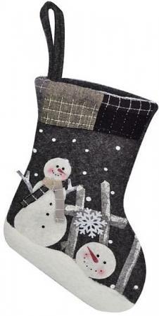 Носок для подарков Winter Wings Снеговики 23 см цены онлайн