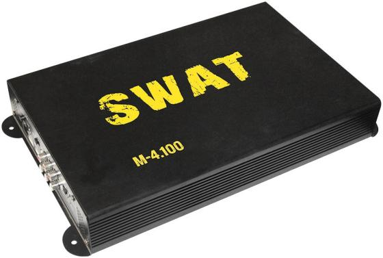Усилитель автомобильный Swat M-4.100 четырехканальный усилитель автомобильный dddy dvd usb