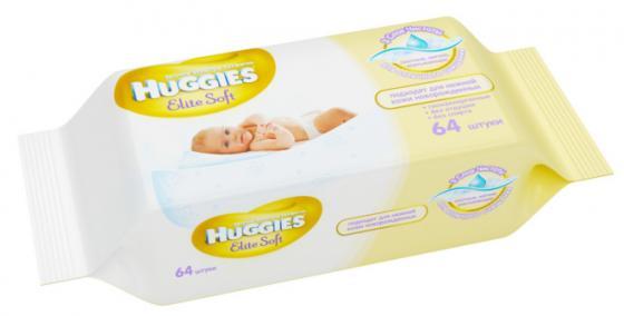 Салфетки влажные Huggies Элит Софт 64 шт детские 2398194 huggies влажные салфетки детские элит софт дуо без отдушек 128 шт уп 5 упаковок