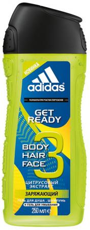 """Гель для душа ADIDAS """"Get ready!"""" 250 мл adidas get ready male 75 мл"""