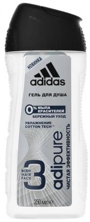 Гель для душа ADIDAS Adipure 250 мл трусы женские calvin klein underwear цвет черный qf4530e 001 размер s 42