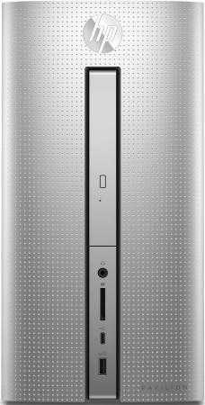 ПК HP Pavilion 570-p003ur i5 7400 (3)/4Gb/SSD256Gb/HDG630/DVDRW/Free DOS 2.0/GbitEth/клавиатура/мышь/серебристый/черный for hp pavilion dv7 notebook pc 503395 001 la 4092p laptop motherboard fully tested 60 days warranty free shipping