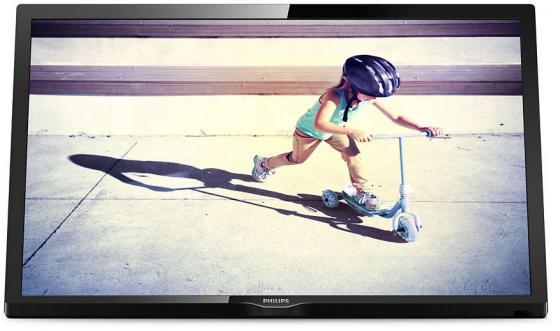 Телевизор 24 Philips 24PHS4022/60 черный 1366x768 50 Гц VGA USB Разьем для наушников телевизор philips 32pht4100 60 hd pmr 100 черный