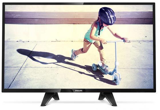 Телевизор 32 Philips 32PHS4132/60 черный 1366x768 60 Гц USB SCART Разьем для наушников телевизор philips 55put6101 60 черный