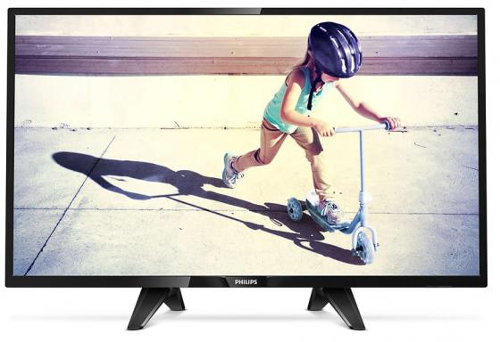 Телевизор 32 Philips 32PHS4132/60 черный 1366x768 60 Гц USB SCART Разьем для наушников телевизор 39 akai lea 39z72t черный 1366x768 50 гц vga разьем для наушников