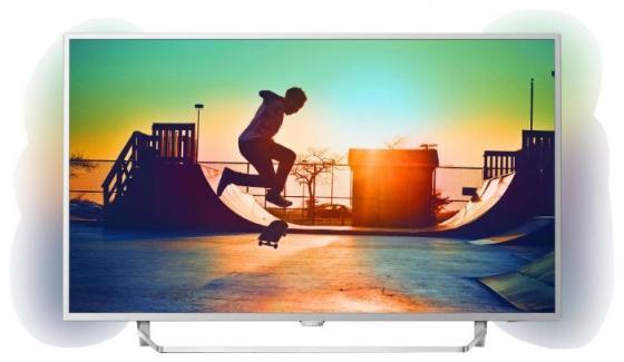 Фото - Телевизор LED Philips 49 49PUS6412/12 серебристый/Ultra HD/900Hz/DVB-T/DVB-T2/DVB-C/USB/WiFi/Smart TV (RUS) led телевизор philips 65pus6412 12 r 65 ultra hd 4k 2160p серебристый