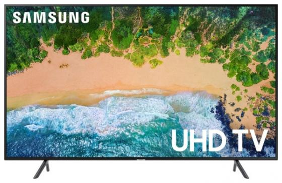 Телевизор 55 Samsung UE55NU7100UXRU черный 3840x2160 100 Гц Smart TV Wi-Fi RJ-45 samsung wi