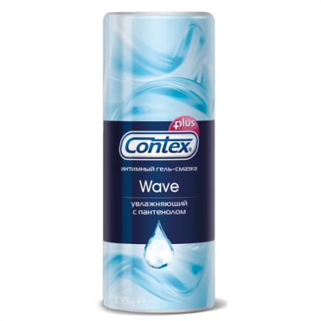 CONTEX Гель-смазка интимный Plus Wave увлажняющий с пантенолом 100мл