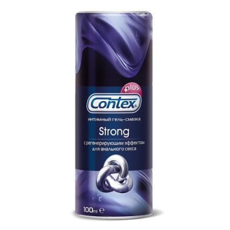 CONTEX Гель-смазка интимный Plus Strong с регенерирующим эффектом для анального секса 100мл contex green 100 мл лубрикант с антибактериальным эффектом