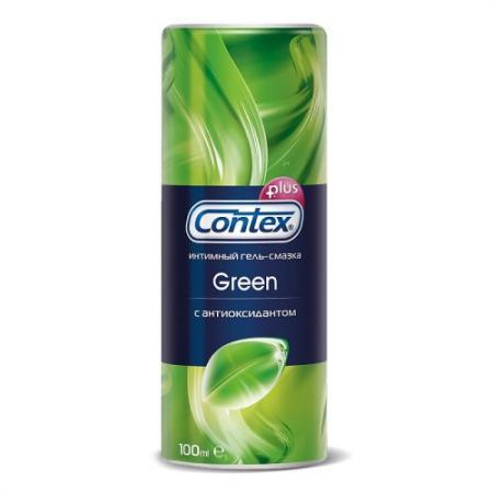 CONTEX Гель-смазка интимный Plus Green с антиоксидантами 100мл