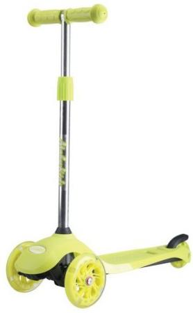 Самокат трехколёсный Moby Kids Junior Light 2.0 120/76 мм зеленый 641134 цены онлайн
