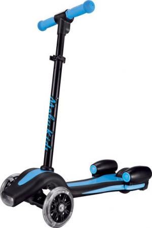 Самокат трехколёсный Moby Kids Junior Rocket 120 мм синий 641155 велосипед трехколёсный moby kids junior 2 10 8 красный t300 2