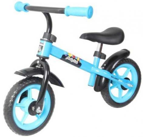 """лучшая цена Беговел двухколёсный Moby Kids KidFun 10 10"""" синий 641163"""
