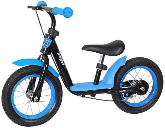 Беговел двухколёсный Moby Kids KidRun 12 12 сине-черный 641169 moby kids двухколёсный самокат moby kids со светящимися колёсами
