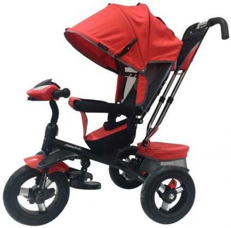 Велосипед трехколёсный Moby Kids Comfort 360° 12x10 AIR 12*/10* красный 641067 велосипед трехколёсный moby kids junior 2 10 8 красный t300 2