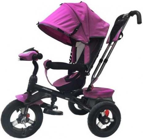 Велосипед трехколёсный Moby Kids Comfort 360° 12x10 AIR 12*/10* фиолетовый 641069