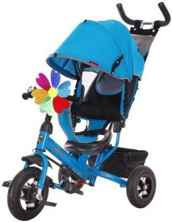 Велосипед трехколёсный Moby Kids Comfort 10x8 AIR 10/8 синий 641052 велосипед moby kids junior 2 10 8 красный t300 2