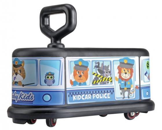 Каталка Moby Kids KidCar полиция пластик от 3 лет на колесах синий 49459 каталка everflo м002 2 металл от 3 лет на колесах зеленый м002 2