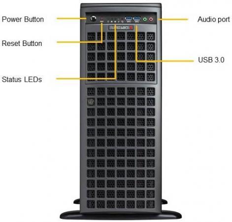 Платформа SuperMicro SYS-7049GP-TRT 10G 2P 2x2200W тент tramp trt 104 04 green 3x3m