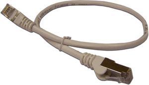 Патч-корд RJ45 - RJ45, 4 пары, FTP, категория 6A, 2 м, серый, LSZH, LANMASTER патч корд rj45 rj45 4 пары ftp категория 5е 2 м синий lszh lanmaster lan pc45 s5e 2 0 bl