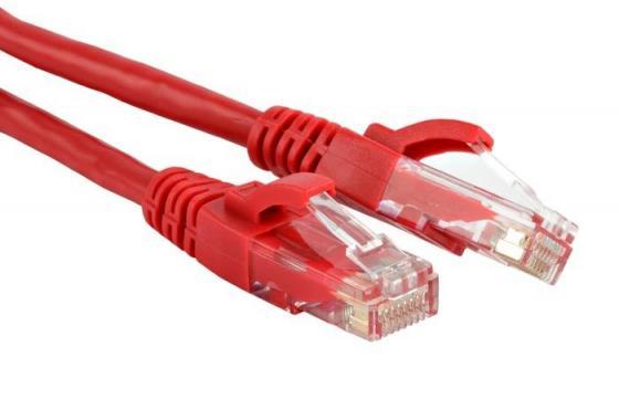 Патч-корд RJ45 - RJ45, 4 пары, UTP, категория 6, 2 м, красный, LSZH, LANMASTER LAN-PC45/U6-2.0-RD