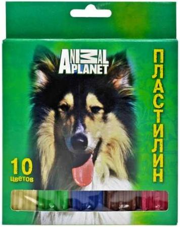 Пластилин ACTION! ANIMAL CLUB INT., 10 цв, 200 гр, карт. уп. с европодвесом цены онлайн