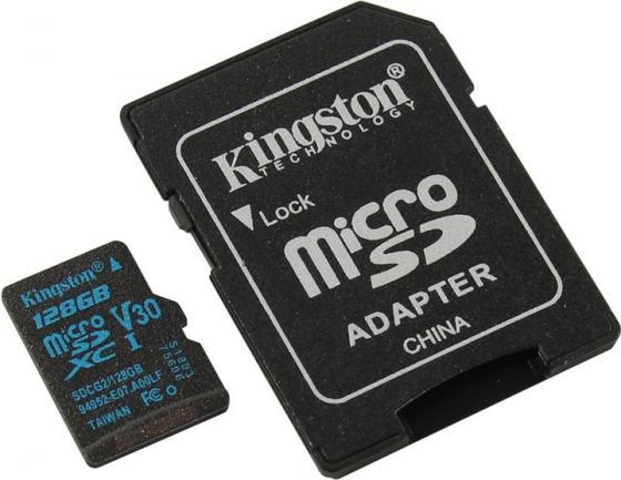Флеш карта microSDXC 128Gb Class10 Kingston SDCG2/128GB Canvas Go + adapter флеш карта microsdxc 256gb class10 kingston sdcs 256gb adapter
