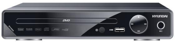 Плеер DVD Hyundai H-DVD200 черный Караоке ПДУ все цены