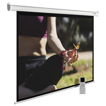 Экран Cactus 200x200см MotoExpert CS-PSME-200x200-WT 1:1 настенно-потолочный рулонный белый (моторизованный привод) цена и фото