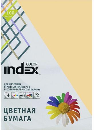 Цветная бумага Index Color IC16/100 A4 100 листов песочны бумага maestro color pale a4 80g m2 100л blue mb30 102474