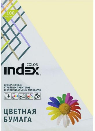 Цветная бумага Index Color IC12/100 A4 100 листов ваниль