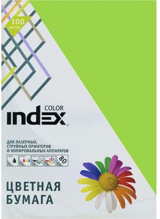Цветная бумага Index Color IC66/100 A4 100 листов салатовый фото