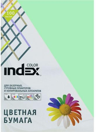 Цветная бумага Index Color IC65/100 A4 100 листов светло-зеленый
