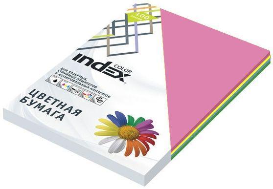 Бумага цветная, Index Color, 80гр, А4, 5х50 (55,85,93,59,45), 250л бумага цветная kaskad 80гр а4 светло желтый 55 500л