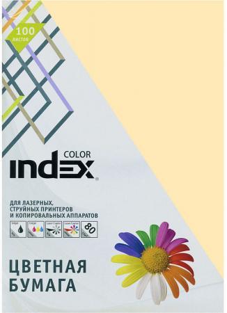 Цветная бумага Index Color IC13/100 A4 100 листов кремовый