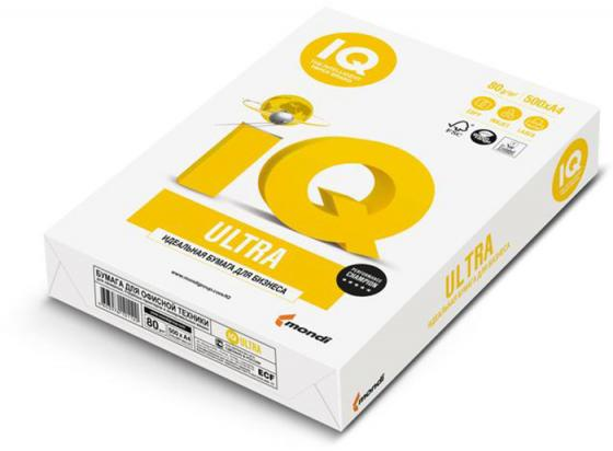 Бумага IQ ULTRA, ф. А4, белизна 168% CIE, яркоcть 115%, 80 г/м2, 500 л. бумага iq economy ф а4 белизна 146% cie яркость 96% 80 г м2 500 л
