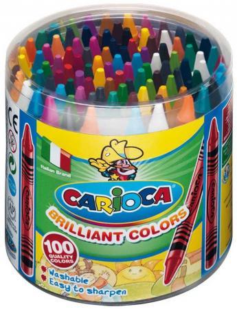 Набор восковых мелков CARIOCA WAX CRAYONS, пластиковый бокс, 100 шт carioca набор пластиковых мелков plastello 12 цветов