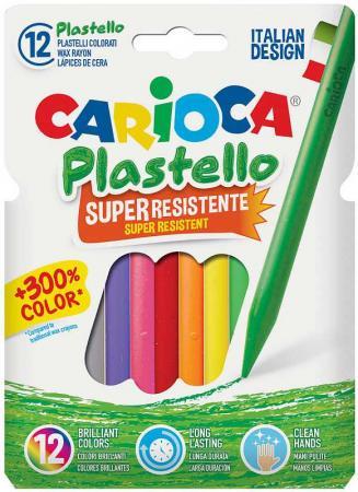 Набор пластиковых мелков PLASTELLO 12 цветов в конверте с европодвесом carioca набор пластиковых мелков plastello 12 цветов