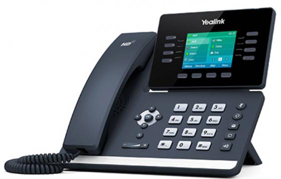 Телефон IP Yealink SIP-T52S 12 SIP-аккаунтов 2x10/100/1000Mbps 2.7 LCD PoE BLF BLA USB