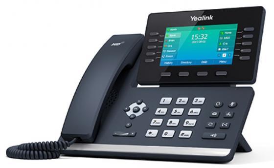 Телефон IP Yealink SIP-T54S 16 SIP-аккаунтов 2x10/100/1000Mbps 2.7 LCD PoE BLF BLA USB