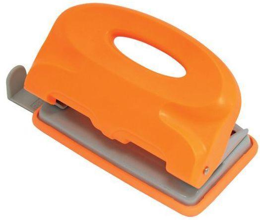 Дырокол COLOURPLAY, на 10 листов, пластиковый корпус, неоновый оранжевый дырокол index colourplay на 10 листов пластиковый корпус неоновый зелёный icp110 gn