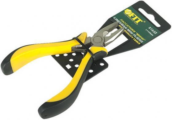 Плоскогубцы FIT 51632 мини черно-желтая мягкая ручка никел.антикор.покрытие плоскогубцы fit 50793