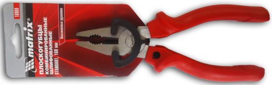 Плоскогубцы MATRIX 16969 standard 160мм комбинированные шлифованные пластмассовые рукоятки плоскогубцы aist 71111106 комбинированные 160мм