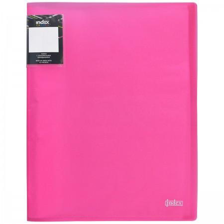 Папка с 40 файлами COLOURPLAY Light, ф.A4, 0,55мм, прозрачная, ассорти цена и фото