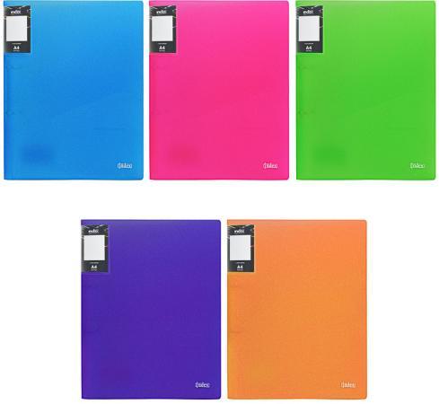 Папка с 60 файлами COLOURPLAY Light, ф.A4, 0,6мм, прозрачная, ассорти цена и фото