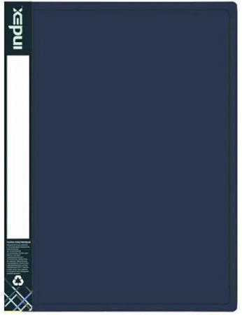 Папка с 40 файлами METALLIC, форзац, ф.A4, 0,8мм, темно-синяя