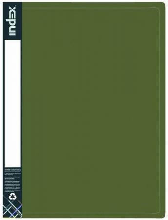Папка с 30 файлами METALLIC, форзац, ф.A4, 0,7мм, темно-зеленая